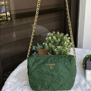 Authentic Prada Shoulder Tesutto Nylon Bag